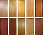 Металлические двери отделанные ламинатом
