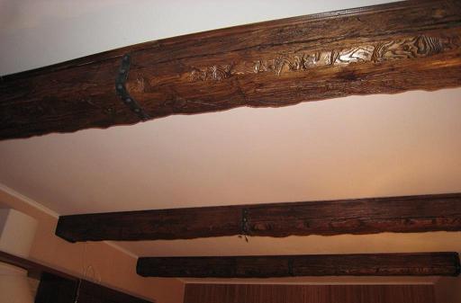 Фальш балки потолочные из дерева своими руками