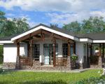 Одноэтажные каркасные дома под ключ